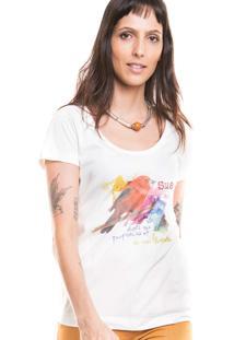 Camiseta Tiê Moda Sustentável Aquarela Champagne