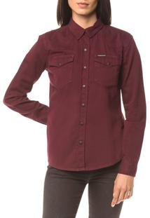 Camisa Color Manga Longa - Bordo - P