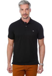 Camisa Polo Javali Preta Basic