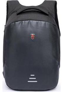 Mochila Oh My Bag Swissport Antifurto - Unissex-Preto
