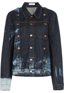 Delada Jaqueta Jeans Com Botões - Azul