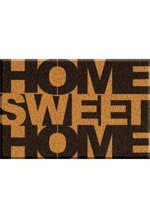 Capacho De Vinil Home Sweet Home Amarelo Único Love Decor