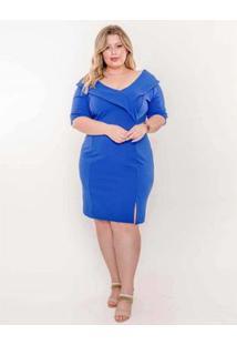 Vestido Plus Size Palank Lírio Feminino - Feminino