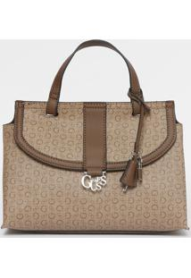 111d891f89 ... Bolsa Transversal Com Aviamento   Bag Charm- Marrom Clarguess