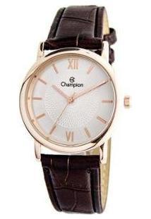 Relógio Feminino Champion Analógico Social - Ch24008Z - Feminino-Marrom