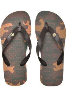 Chinelo Timberland Camuflado Marrom