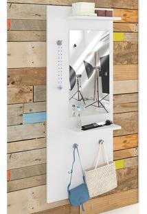 Painel Decorativo Vertical C/ Espelho Style – Estilare - Branco