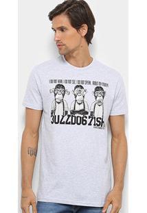 Camiseta Bulldog Fish Masculina - Masculino-Cinza Claro