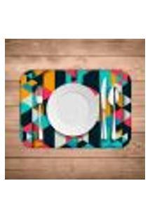 Jogo Americano Wevans Colorful Polygonal Kit Com 6 Pçs