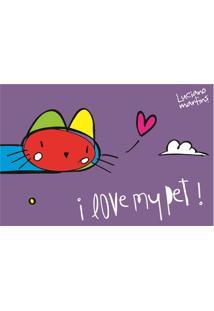 Capacho Vinil Art Luciano Martins I Love My Pet Cat 40 X 60 Cm
