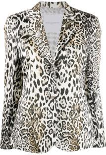 Ermanno Scervino Blazer Com Estampa De Leopardo - Branco