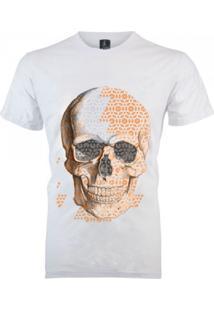 Camiseta João Homor Caveira Triângulos Branca