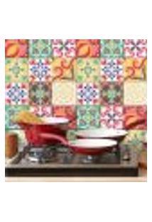 Adesivo De Azulejo Carmesim Colorido 15X15 Cm Com 36Un