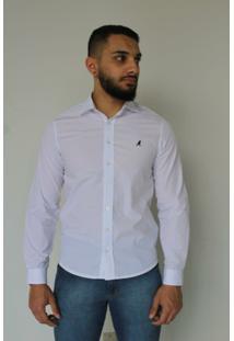 Camisa Social Tradicional 1001 - Masculino-Branco