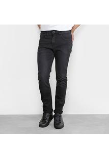 Calça Jeans Slim Foxton Estonada Masculina - Masculino