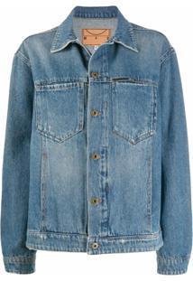 Mcq Swallow Jaqueta Jeans Com Efeito Desbotado - Azul