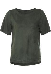 Camiseta Dimy Suede Verde - Kanui
