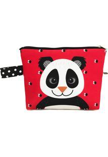 Necessaire Nita Faco Panda Peter Vermelho