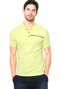Camisa Polo Calvin Klein Jeans Logo Amarelo