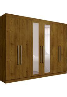 Guarda-Roupa Casal Com Espelho Giovana 6 Pt Canela