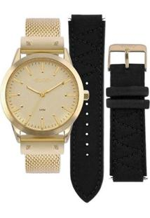 Relógio Euro Feminino Neoprene - Eu2035Yok/4D Eu2035Yok/4D - Feminino-Dourado