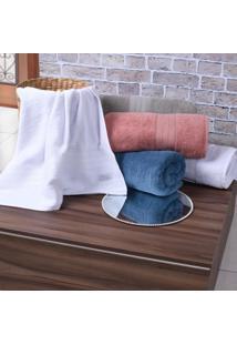 Kit 4 Toalhas De Toalha De Banho Classique 100% Algodão Branco - Tessi