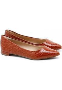 Sapatilha Charlote Shoes Croco Feminina - Feminino