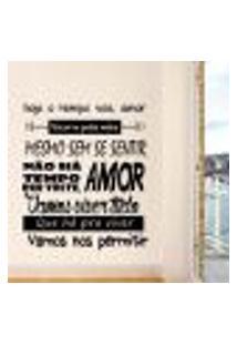 Adesivo De Parede Frase Hoje O Tempo Voa Amor... - M 70X59Cm