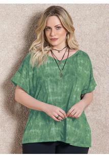 Blusa Verde Soltinha Com Decote V