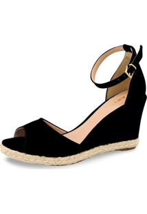 Sandã¡Lia Anabela Anyp Shoes Preta - Preto - Feminino - Dafiti
