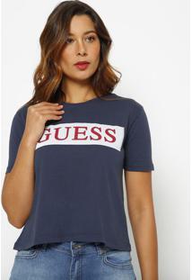 Blusa Guessâ®- Azul Escuro & Vermelha- Guessguess