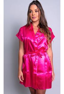 Robe Mvb Modas Noiva Roupão Cetim Personalizado Rosa - Kanui