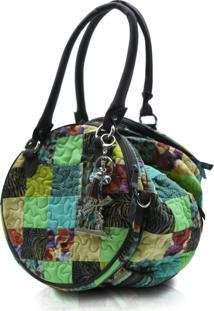 Bolsa Giulianna Fioriaudrey Clover Em Patchwork Original