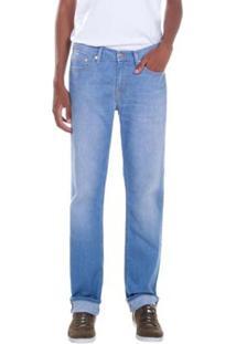 Calça Jeans Levis Straight Masculina - Masculino-Azul