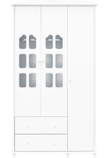 Guarda-Roupa 3 Portas Provence Branca-Acetinado Matic