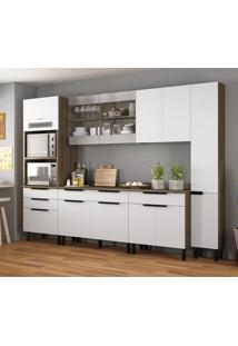 Cozinha Compacta Itamaxi Iv 11 Pt 6 Gv Branca E Castanho
