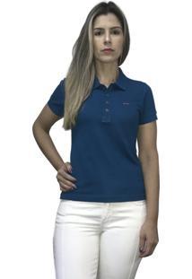 Camisa Hifen Pólo Piquet Azul