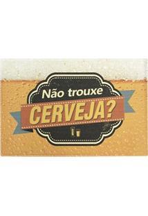 Capacho Divertido Pvc Isadora Design 40Cmx60Cm Cerveja