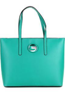 Bolsa Couro Carmim Shopper Helena Feminina - Feminino-Verde