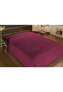 Cobertor Queen Microfibra Liso 2,40X2,20M Vinho - Camesa