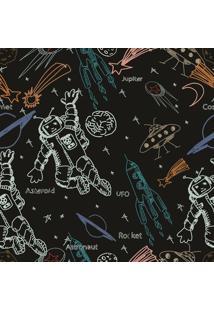 Papel De Parede Adesivo Astronauta (0,58M X 2,50M)