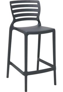 Cadeira Sofia- Cinza Escuro- 93,5X48X47Cm- Tramotramontina