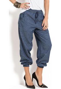 Calça Jogging Jeans Azul Escuro