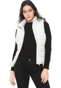 Colete Puffer Facinelli By Mooncity Capuz Off-White