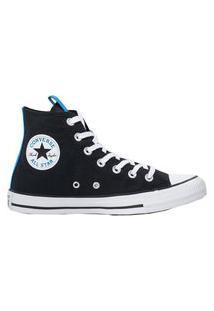 Tênis Converse Chuck Taylor All Star Hi Preto/Azul Digital