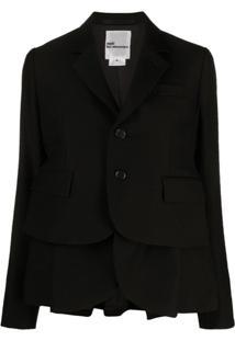 Comme Des Garçons Noir Kei Ninomiya Blazer De Lã Com Sobreposição - Preto