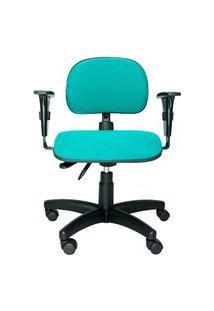 Cadeira Ergonômica Prolabore. Linha Bits. Ajuste Lombar. Braços Ajustáveis. Gás. Base Preta. Tecido Poliéster. Prolabore Produtos Ergonômicos