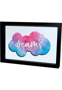Quadro Adesivo Prolab Gift Eletrostático Dreams Preto