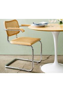 Cadeira Cesca (Com Braço) Ebanizado Opção De Madeira