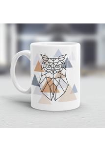 Caneca Porcelana Wevans Escandinavo Coruja